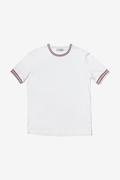 T-shirt con bordo in maglia