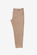 Pantalone cargo in fresco di lana