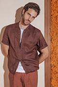 Camicia in lino con zip