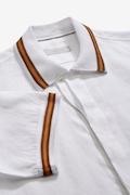 Camicia in lino con bordo in maglia