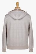Linen and Cotton Zip-Up Sweatshirt