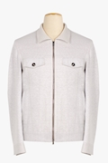 Linen and Cotton Zip-Up Jacket