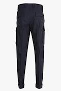 Wool Drawstring Cargo Trousers