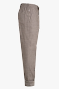 Wool and Linen Drawstring Trousers