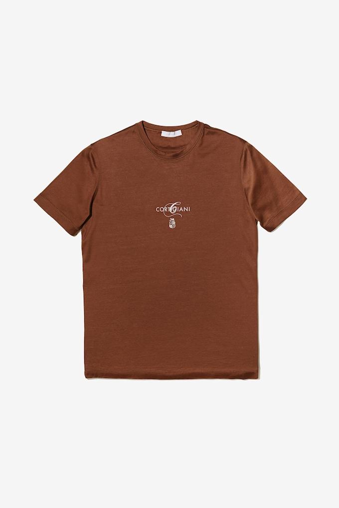 T-shirt logo Cortigiani
