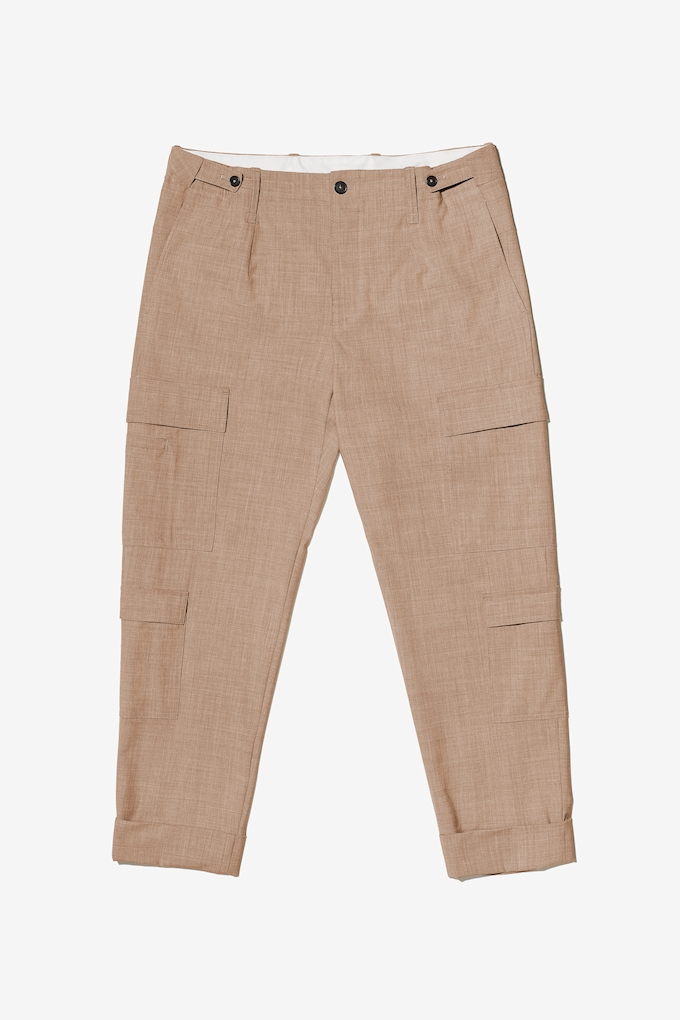Pantalone cargo in fresco di lana - Cortigiani