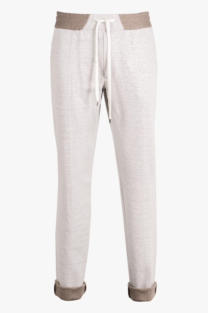 Linen and Cotton Sweatpants - Cortigiani