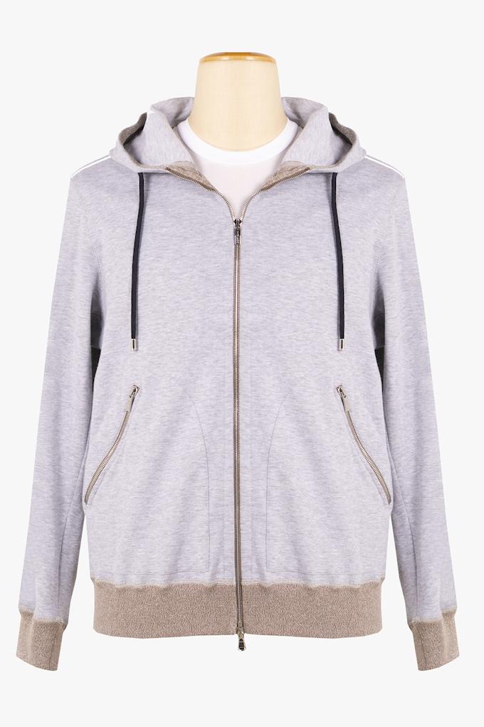 Cotton Zip-Up Sweatshirt - Cortigiani