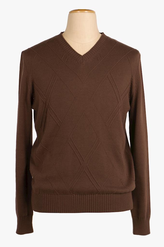 Cotton V-Neck Sweater - Cortigiani