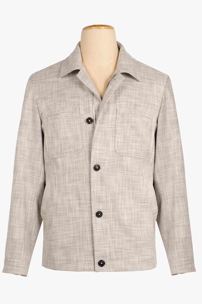 Wool, Cotton and Silk Jacket - Cortigiani