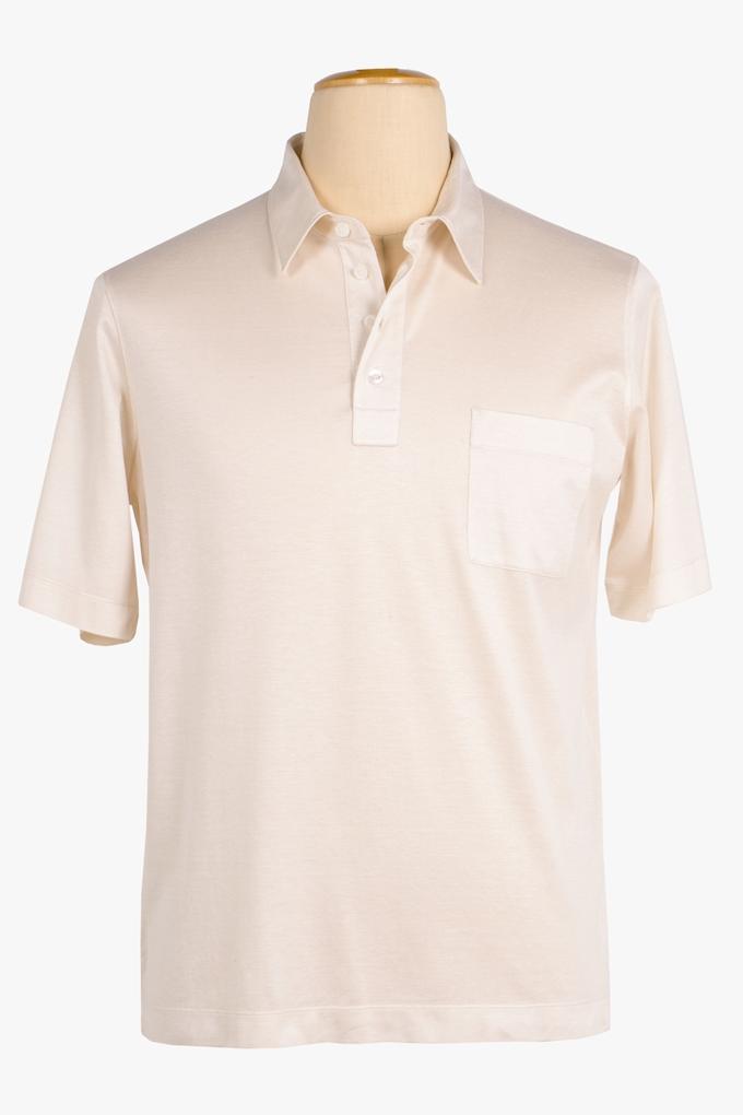 Cotton and Silk Polo Shirt - Cortigiani