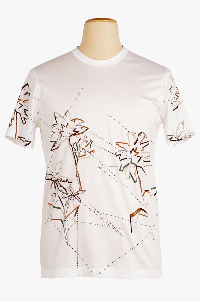 Cotton Embroidered T-Shirt - Cortigiani