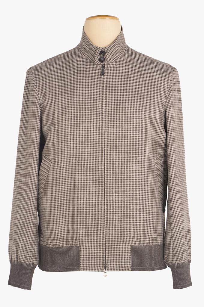 Cotton and Silk Bomber Jacket - Cortigiani